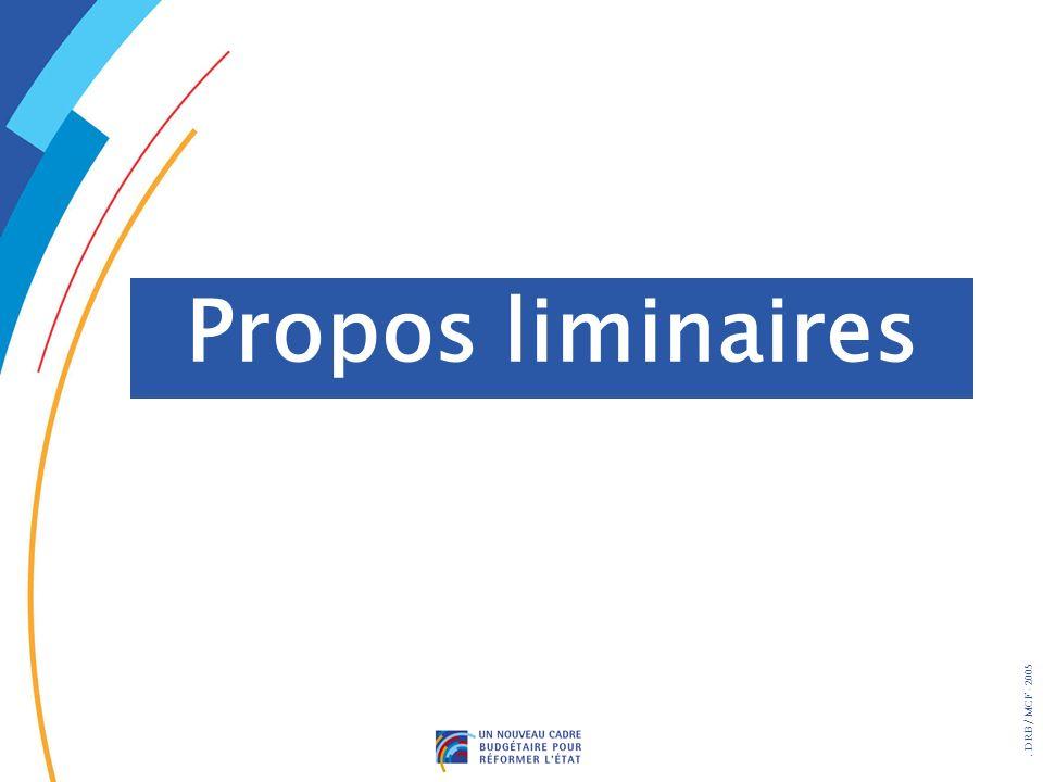 . DRB/ MCF - 2005 Propos liminaires