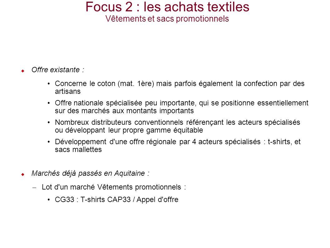 1- Contexte / historique 2- Létude achats publics équitables en Aquitaine 3- Actions spécifiques