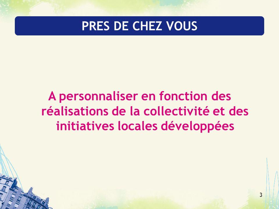 3 PRES DE CHEZ VOUS A personnaliser en fonction des réalisations de la collectivité et des initiatives locales développées