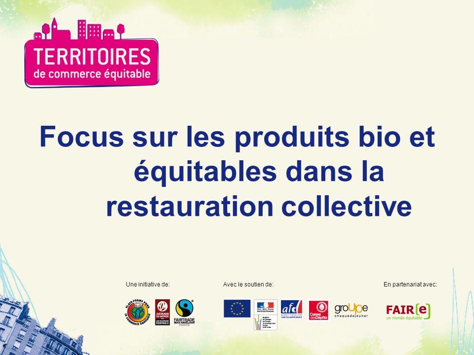Focus sur les produits bio et équitables dans la restauration collective Une initiative de:Avec le soutien de:En partenariat avec: