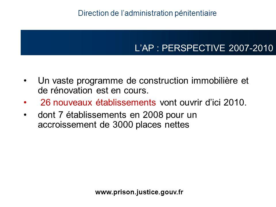 Un vaste programme de construction immobilière et de rénovation est en cours. 26 nouveaux établissements vont ouvrir dici 2010. dont 7 établissements