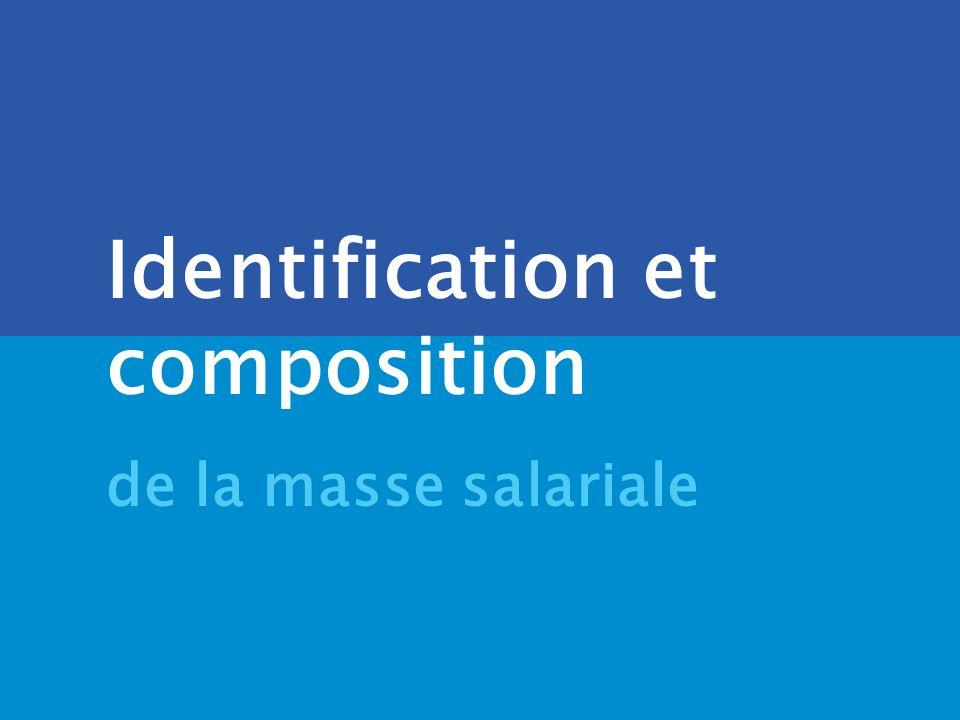 . DRB/ MCF - 2005 Identification et composition de la masse salariale