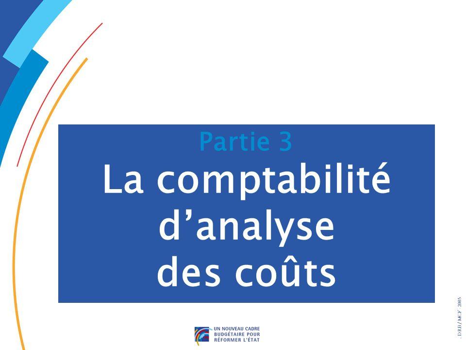 . DRB/ MCF - 2005 Partie 3 La comptabilité danalyse des coûts