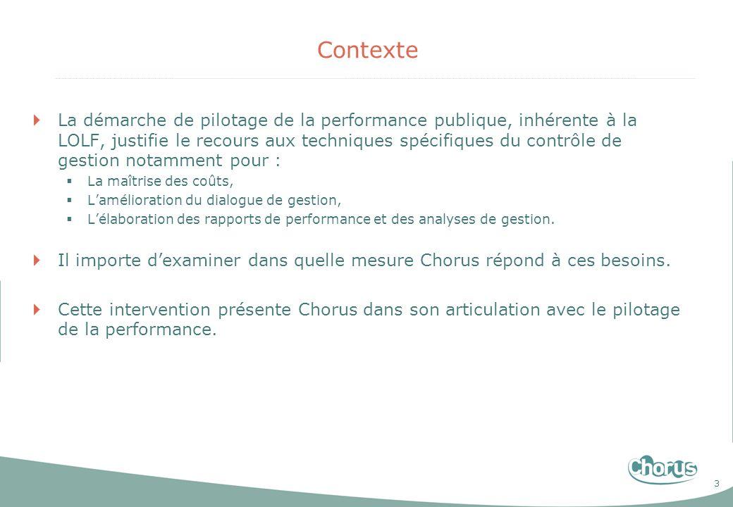 3 Contexte La démarche de pilotage de la performance publique, inhérente à la LOLF, justifie le recours aux techniques spécifiques du contrôle de gest