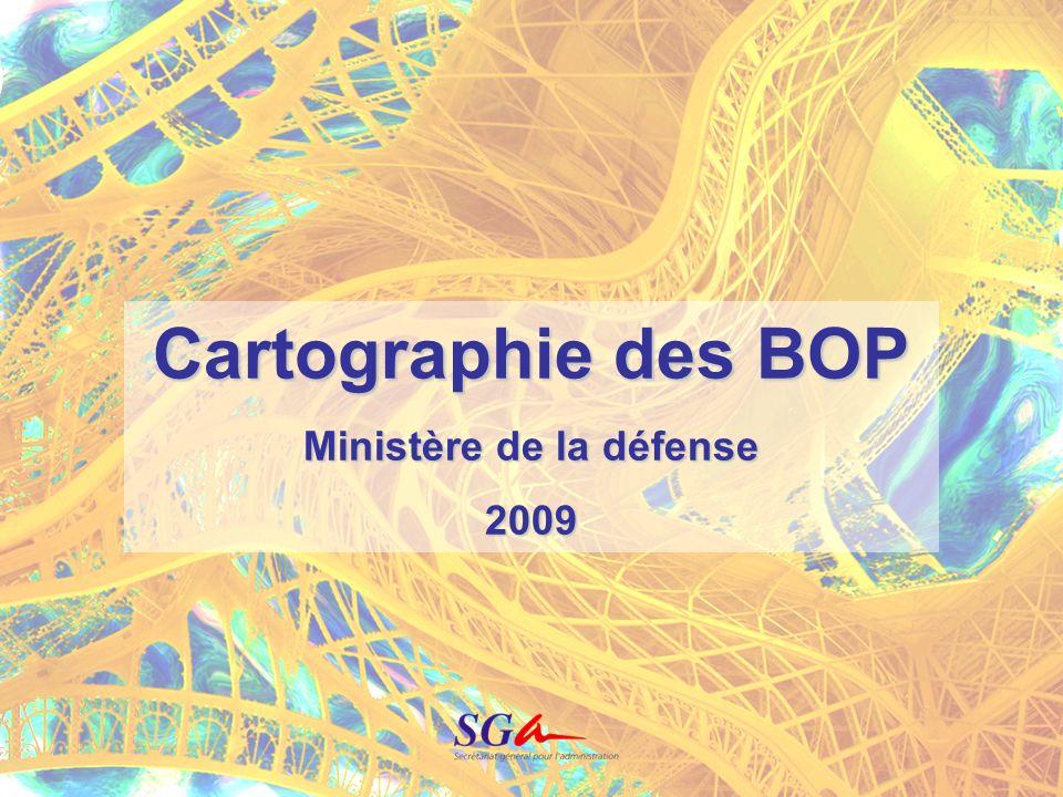 1 Cartographie des BOP Ministère de la défense 2009