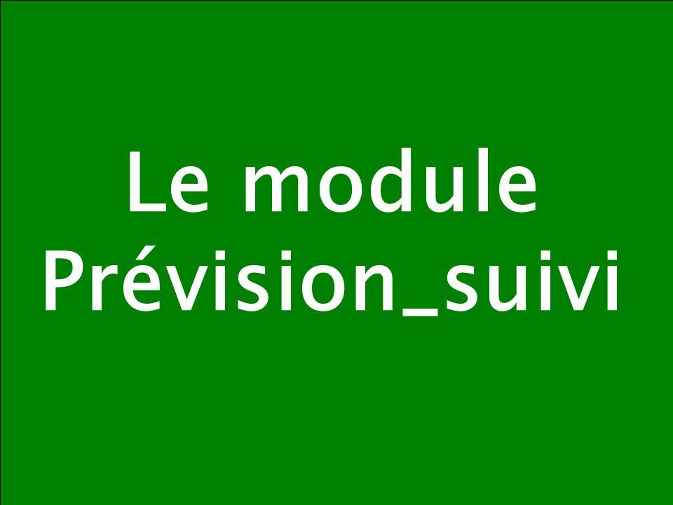 DB / MGFE / POEMS / Formations 2008 19 Le module Prévision_suivi