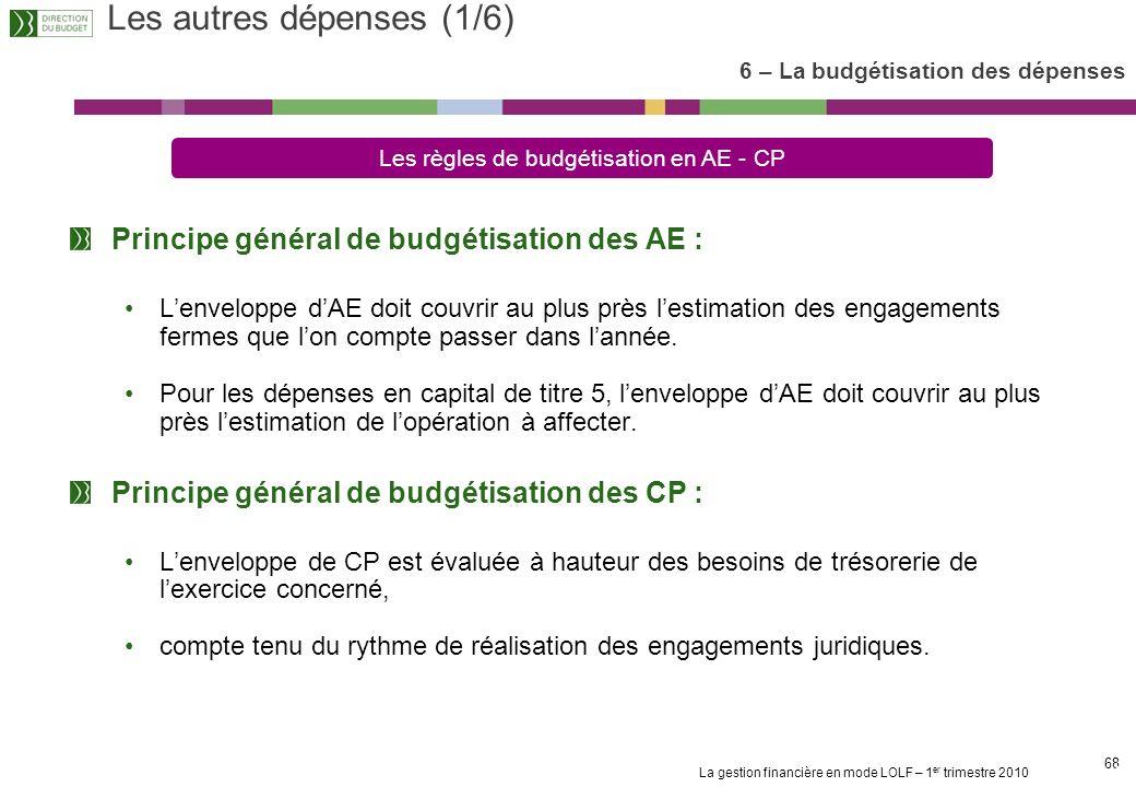 La gestion financière en mode LOLF – 1 er trimestre 2010 67 Le fait générateur du décompte dETPT est le versement de la rémunération principale Les su