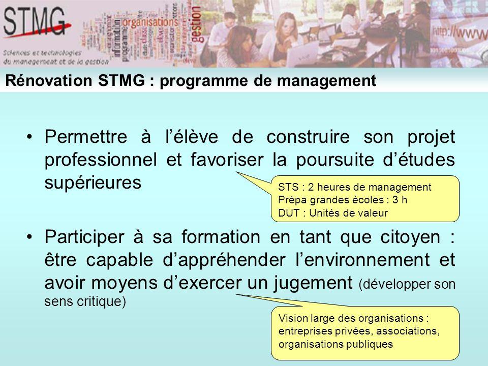 2 - Continuité 2-1- Sur le fond 2-2- Sur la forme 2–3- En matière de pédagogie Rénovation STMG : programme de management