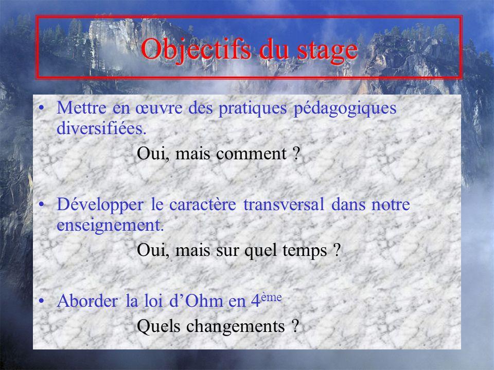 Stage 0029 « Nouveaux programmes au collège » 2006-2007 Andréa Gratreau Nadège Bigot