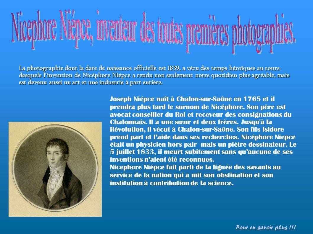 La photographie dont la date de naissance officielle est 1839, a vécu des temps héroïques au cours desquels linvention de Nicéphore Niépce a rendu non