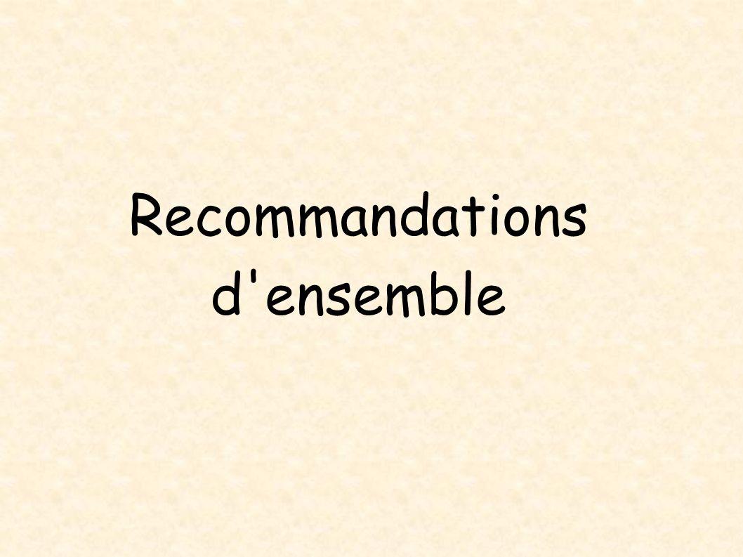 Recommandations d'ensemble