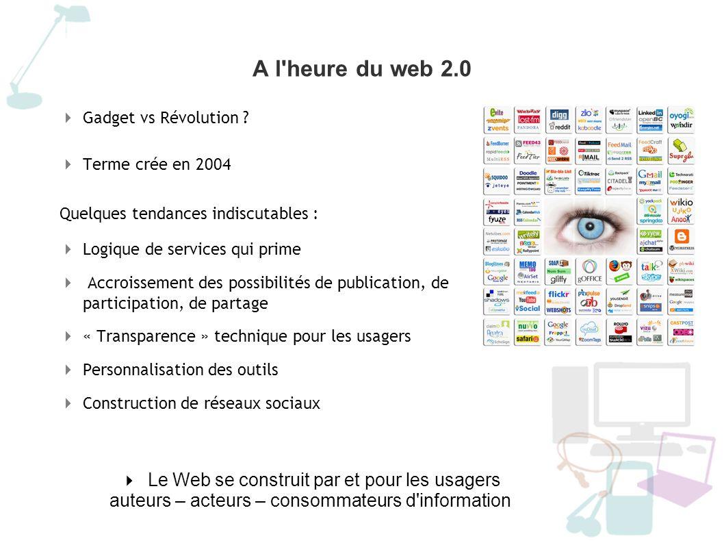A l heure du web 2.0 Frédéric COZIC http://blog.aysoon.comhttp://blog.aysoon.com Evo° technologiques AJAX XML CSS RSS...