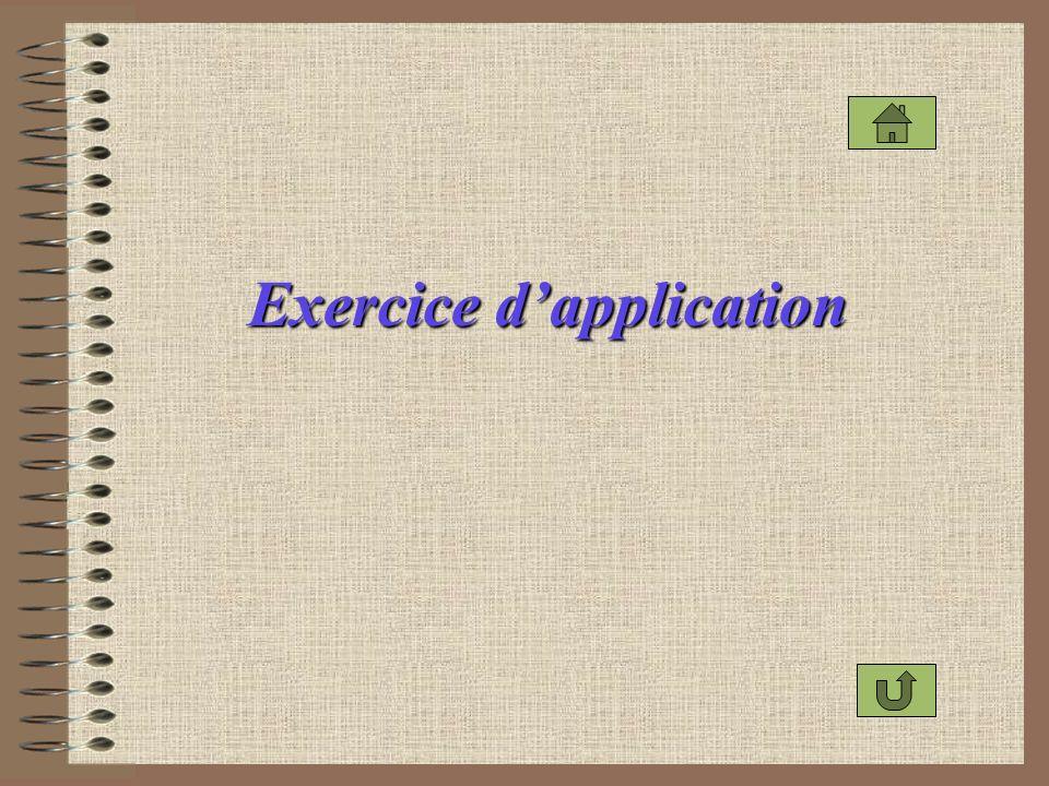 Exercice dapplication