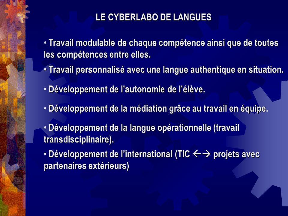 Travail modulable de chaque compétence ainsi que de toutes les compétences entre elles. Travail personnalisé avec une langue authentique en situation.