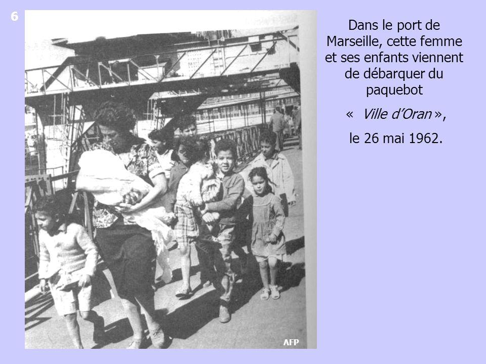 Carte Michelin 1/500 000 La majorité des familles de harkis arrivent de la région de Tlemcen et de la ville dOran.
