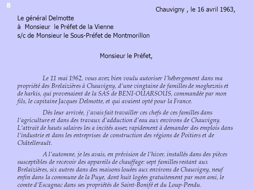 Destination des Harkis du camp de La Rye à partir de sondages réalisés sur les périodes de mai-juin 1963 et décembre-janvier 1964 Aveyron Charente Jura Doubs Lot et Garonne Haute- Vienne Nord Aisne Oise Somme Camp de La Rye ADV 1 W 3775, cabinet du préfet, fiches de recensement.
