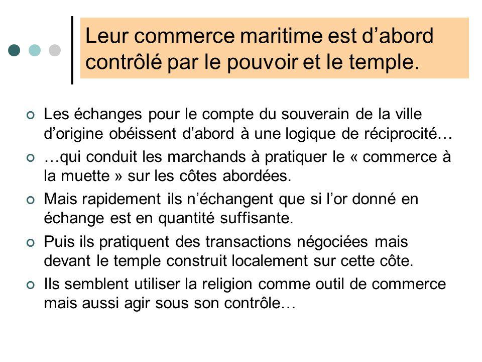 2. Lessor commercial phénicien Norel P. [2004], Linvention du Marché, Paris, Seuil, p.85-93 Descendant des Cananéens, les Phéniciens sont établis vers