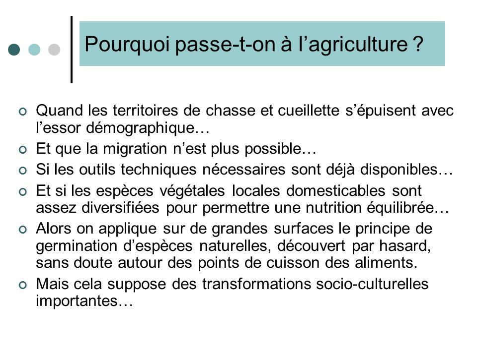1. Linvention de lagriculture Mazoyer M. et Roudart L. [1997], Histoire des agricultures du monde, Paris, Seuil / coll. Points, p.97-135 Entre -14000