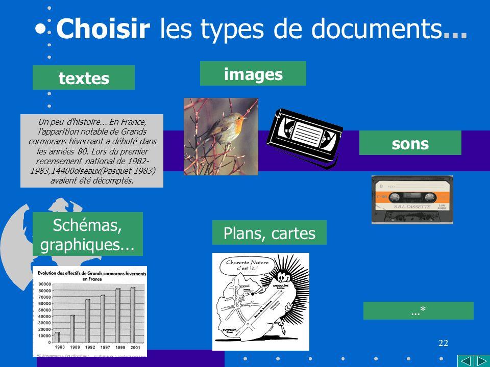 22 Choisir les types de documents...