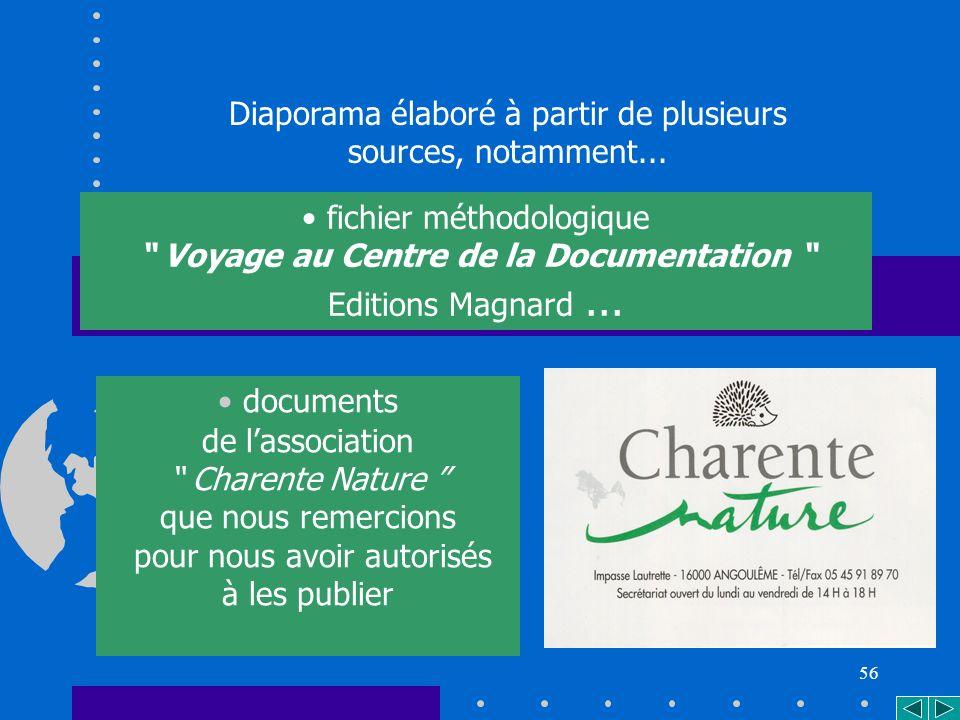 56 documents de lassociation Charente Nature que nous remercions pour nous avoir autorisés à les publier Diaporama élaboré à partir de plusieurs sources, notamment...