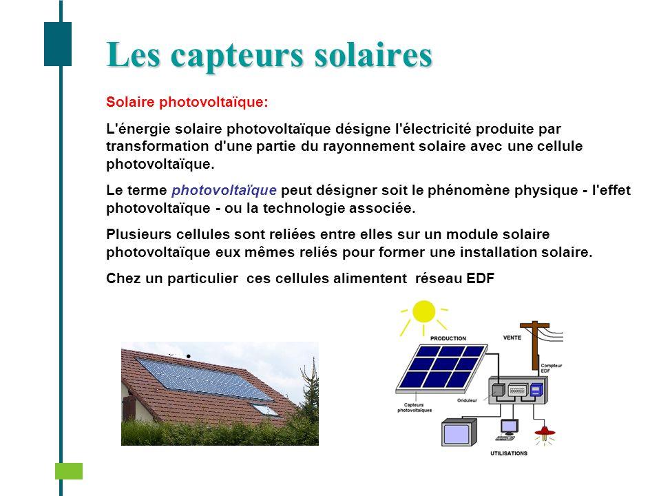 Solaire photovoltaïque: L'énergie solaire photovoltaïque désigne l'électricité produite par transformation d'une partie du rayonnement solaire avec un