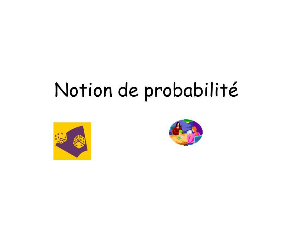 Notion de probabilité