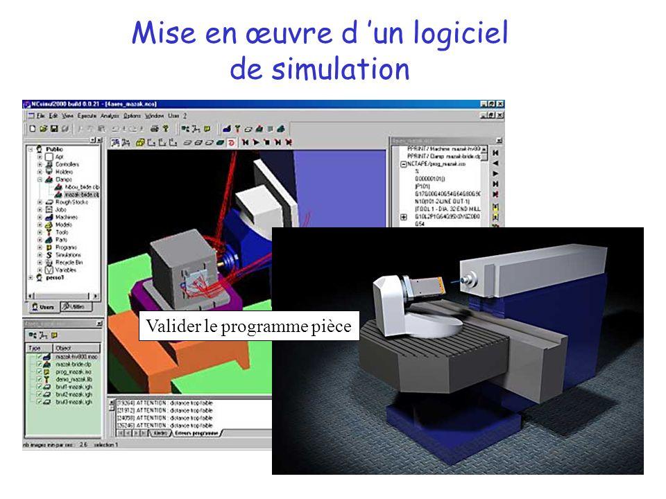 Mise en œuvre d un logiciel de simulation Valider le programme pièce