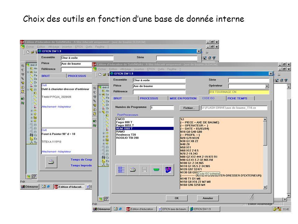 Choix des outils en fonction dune base de donnée interne