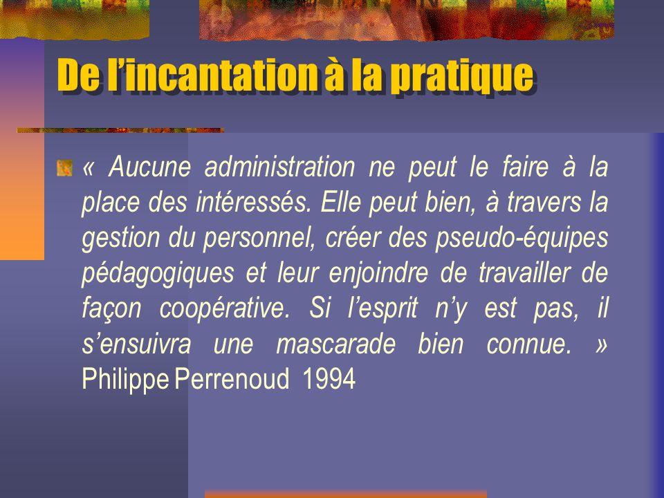 Rendons à Philippe Perrenoud Gather Thurler, M.et Perrenoud, Ph.
