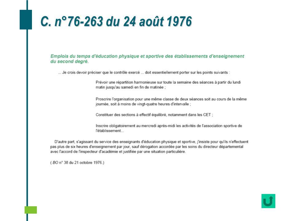 C. n°76-263 du 24 août 1976