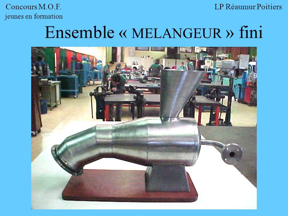 Ensemble « MELANGEUR » fini Concours M.O.F. jeunes en formation LP Réaumur Poitiers