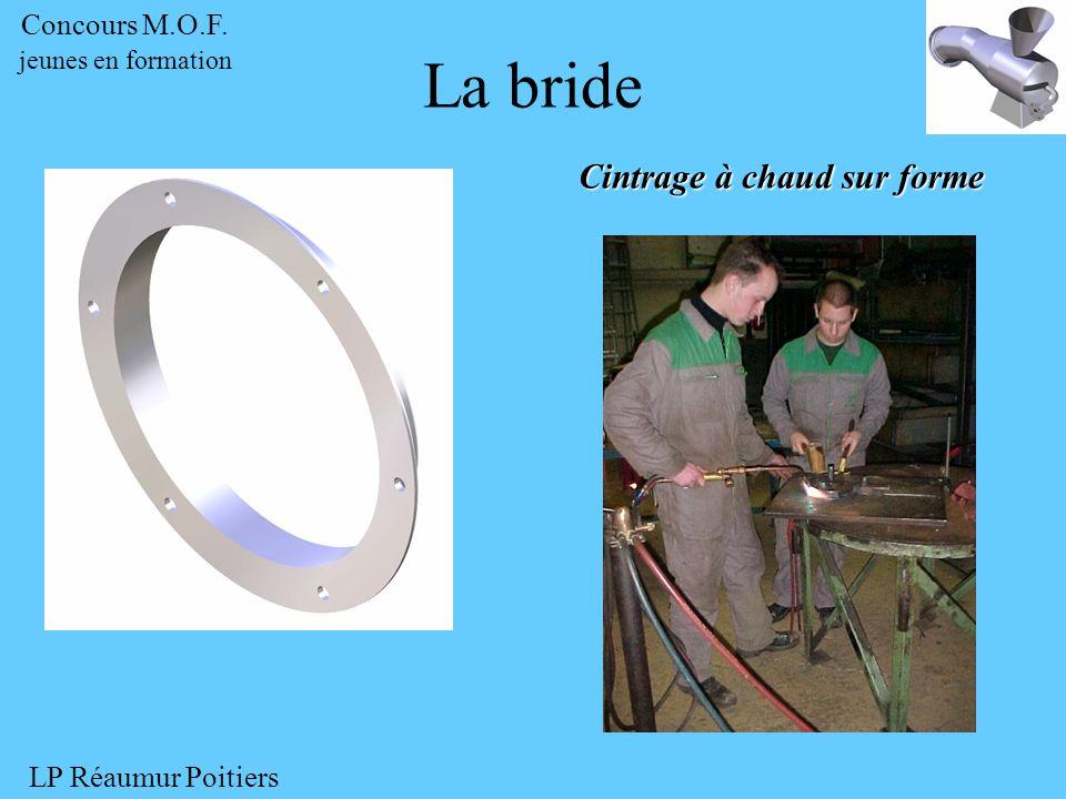 Cintrage à chaud sur forme La bride Concours M.O.F. jeunes en formation LP Réaumur Poitiers