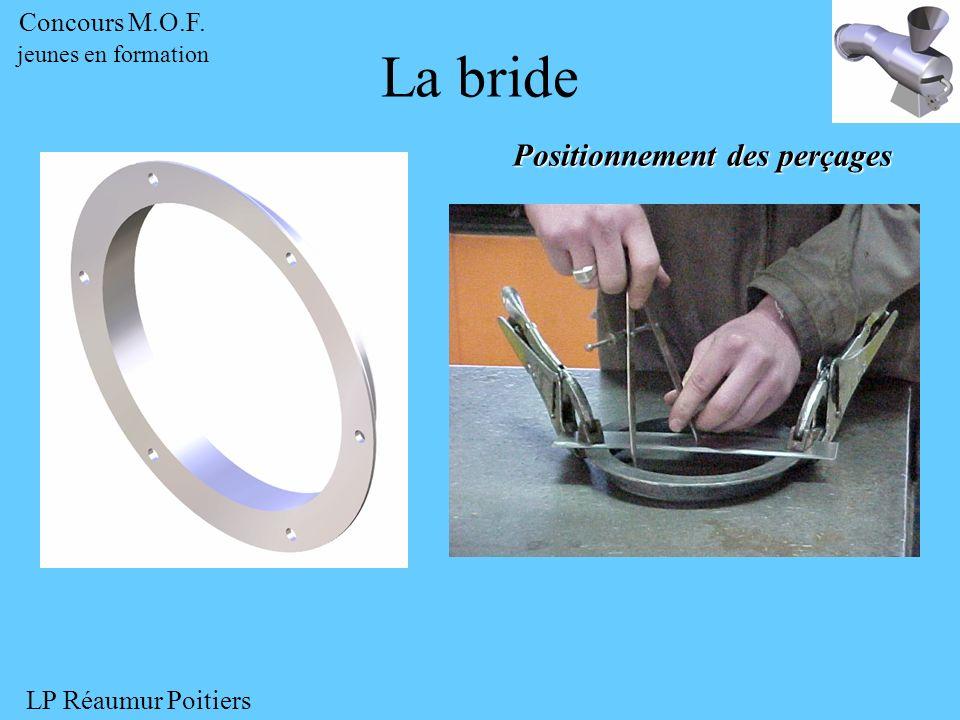 Positionnement des perçages La bride Concours M.O.F. jeunes en formation LP Réaumur Poitiers