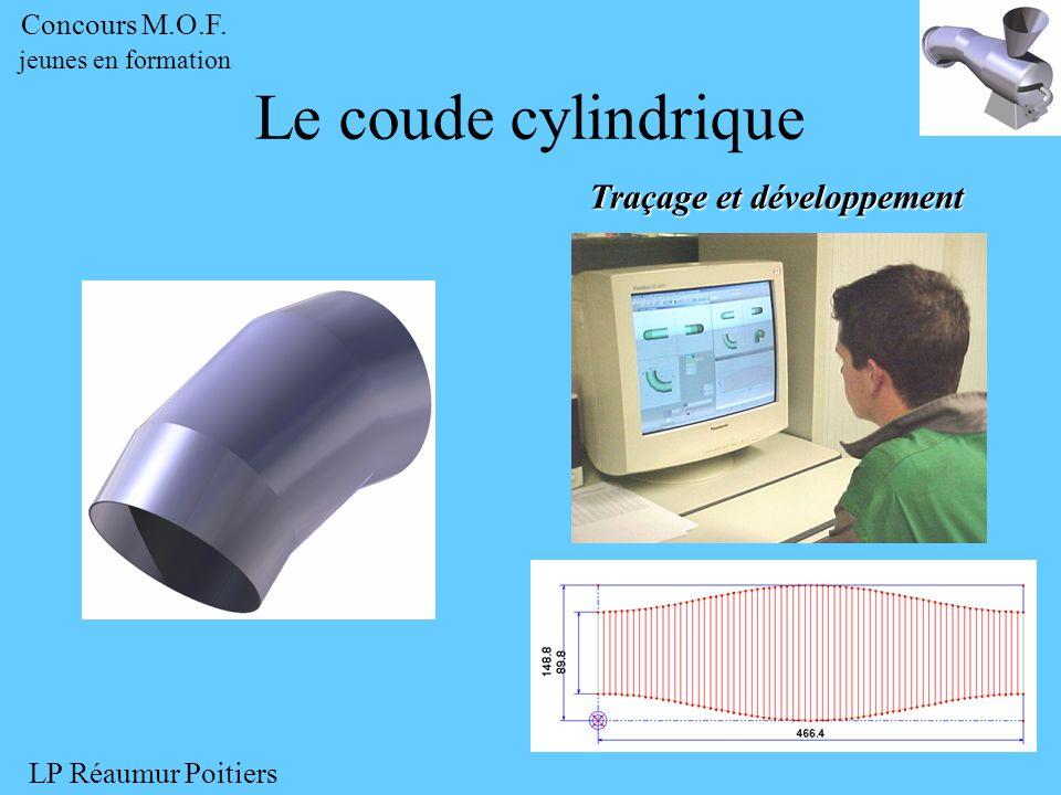 Traçage et développement Le coude cylindrique Concours M.O.F. jeunes en formation LP Réaumur Poitiers