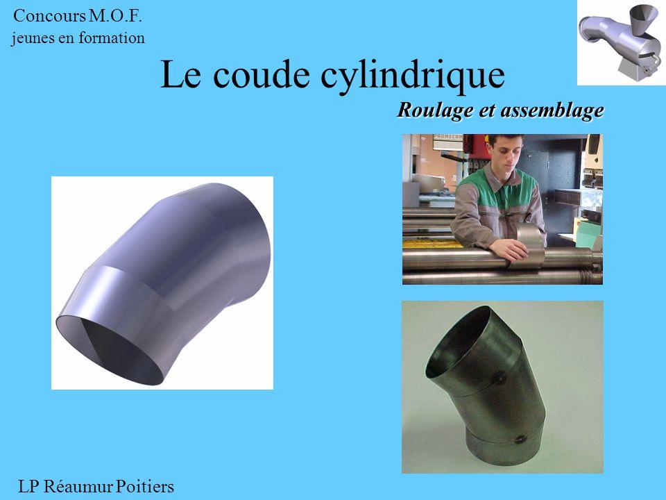 Roulage et assemblage Concours M.O.F. jeunes en formation LP Réaumur Poitiers Le coude cylindrique