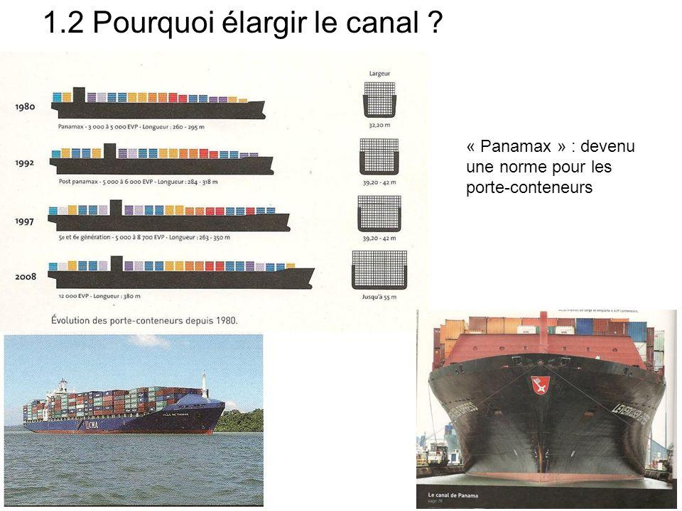 Pourquoi élargir le canal .