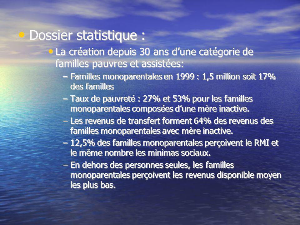 Dossier statistique : Dossier statistique : La création depuis 30 ans dune catégorie de familles pauvres et assistées: La création depuis 30 ans dune