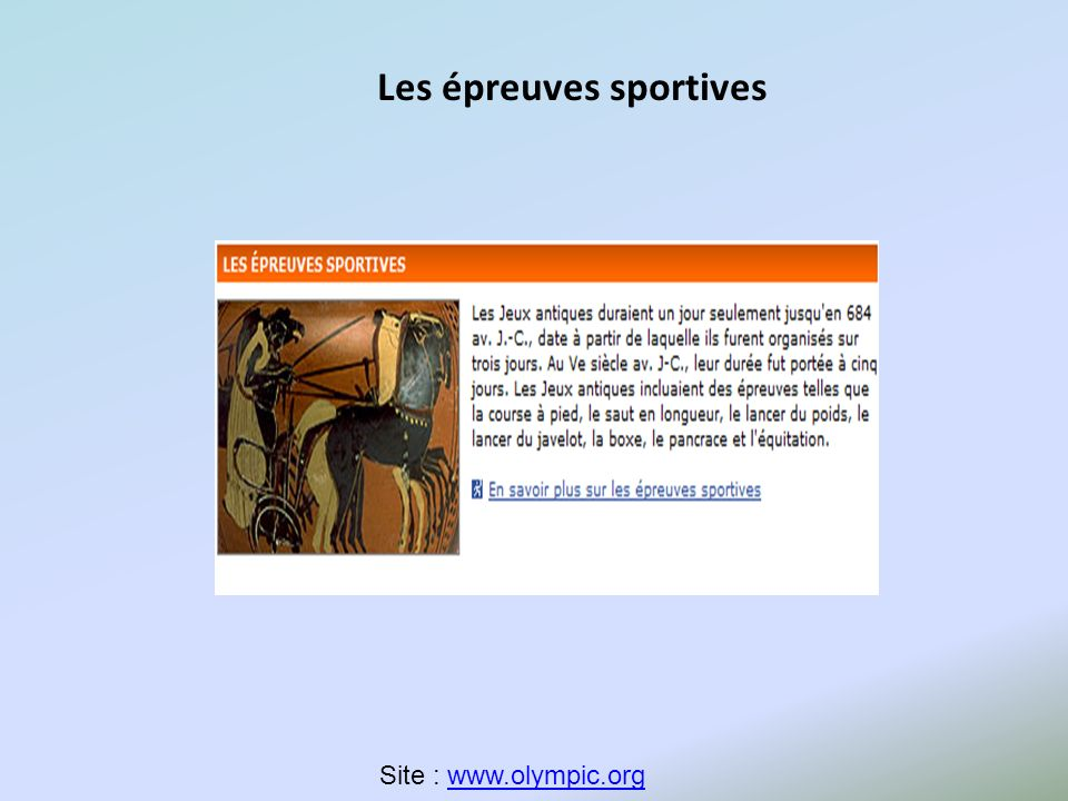 …Un même document pour deux thématiques… Pour aborder la thématique 3 ( question au choix: la Grèce des Savants.) On peut utiliser la vidéo (7 mns ): « Les jeux de lAntiquité sous forme de dessin animé »