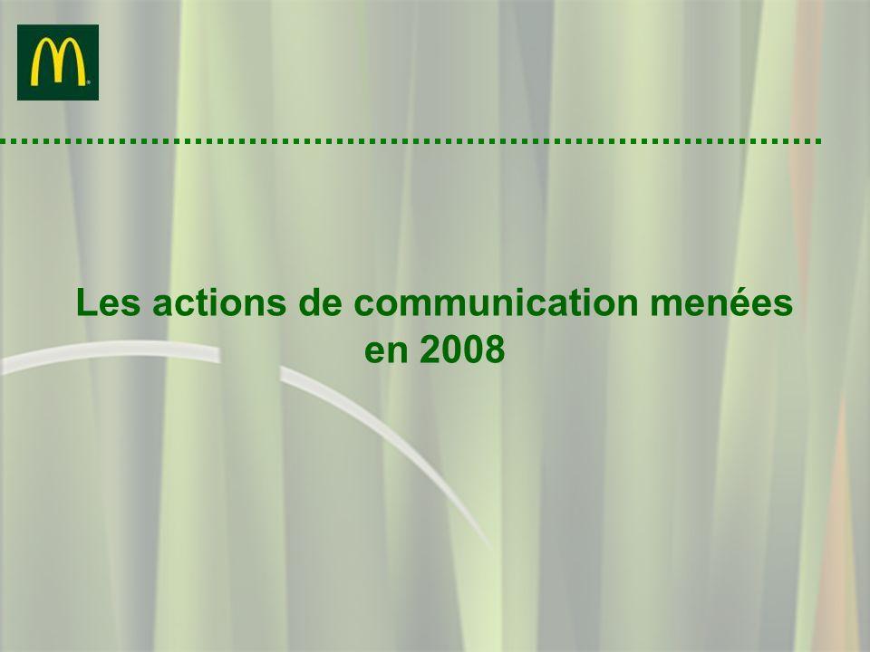 Les actions de communication menées en 2008
