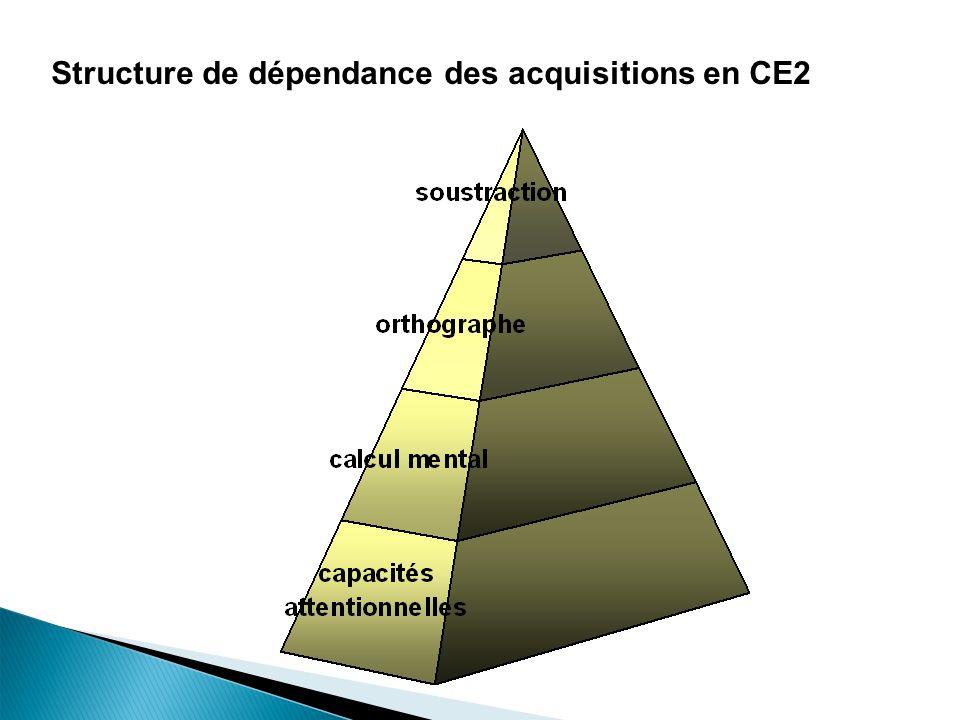 23 Structure de dépendance des acquisitions en CE2