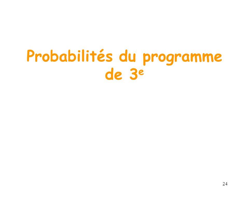 24 Probabilités du programme de 3 e