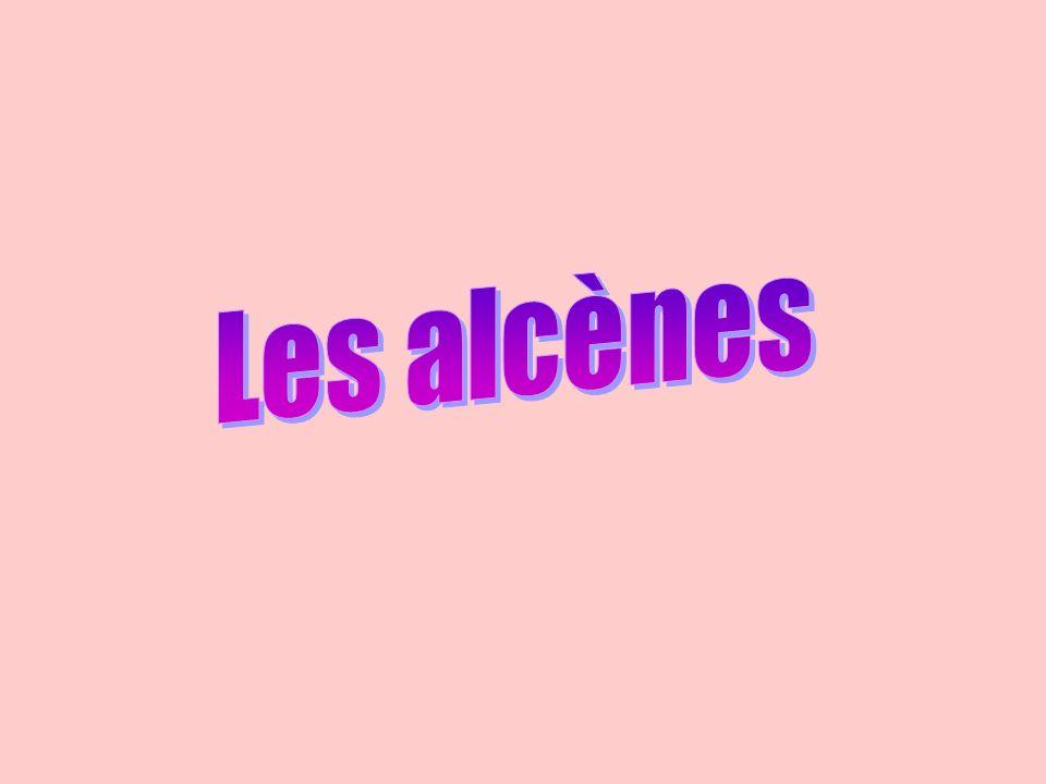 Butène C 4 H 8 Propène C 3 H 6 Éthène C 2 H 4 Alcènes C n H 2n