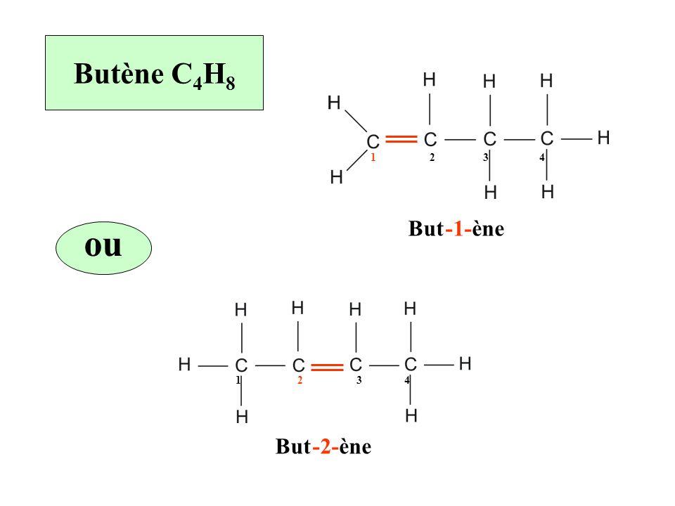 Butène C 4 H 8 ou 1 2 3 4 Butène-1- Butène-2-
