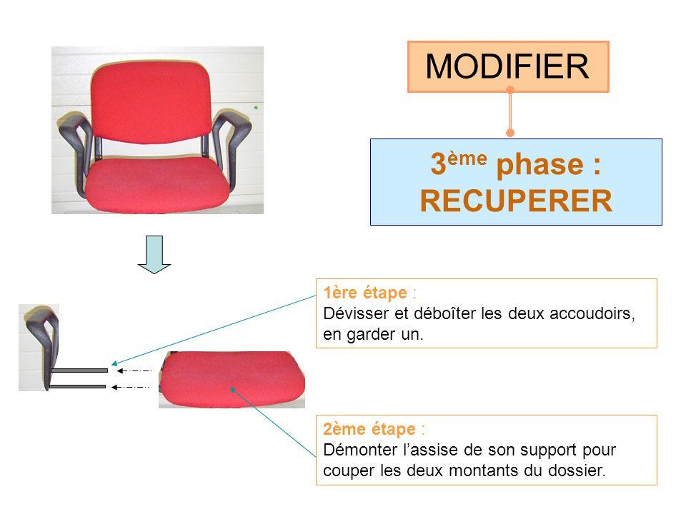 4 ème phase : CONCEVOIR le support du seau CRÉER 1ère étape : Construire le support : - 1 élément coudé (A) - 2 éléments droits (B) 2ème étape : Positionner et assembler par soudure Equiper les 2 glissières AB