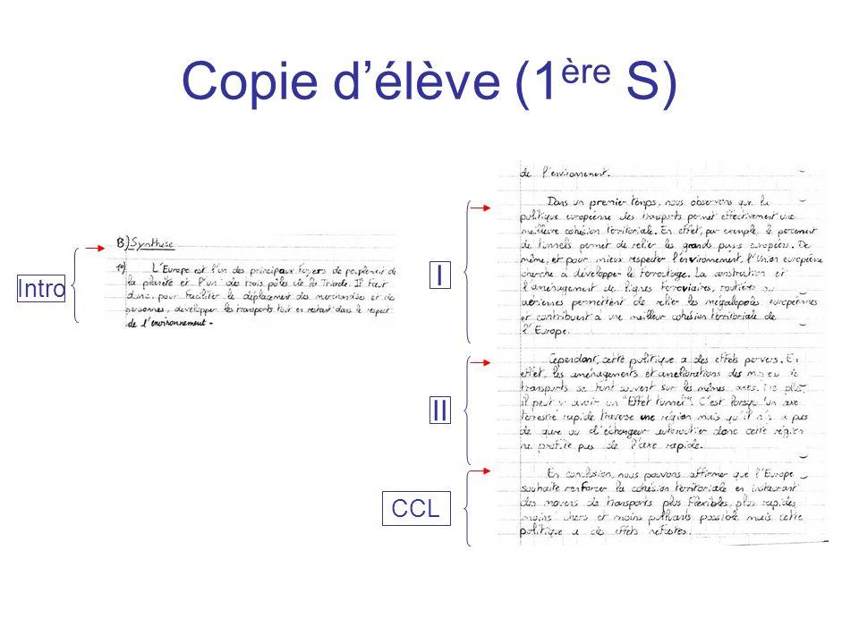 Copie délève (1 ère S) I II Intro CCL