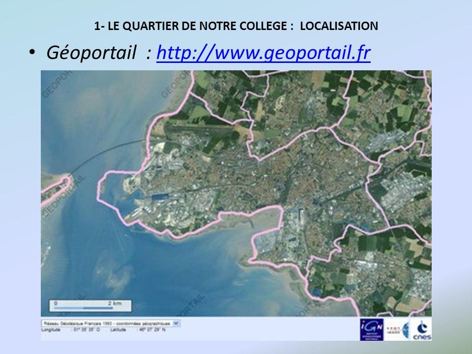 Géoportail : http://www.geoportail.frhttp://www.geoportail.fr