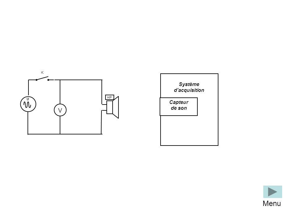 Système dacquisition Capteur de son U HP V K