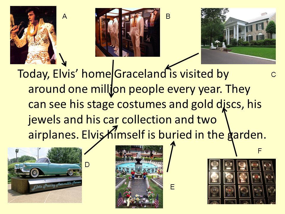 Today, Elvis home Graceland is visited by around one million people every year.