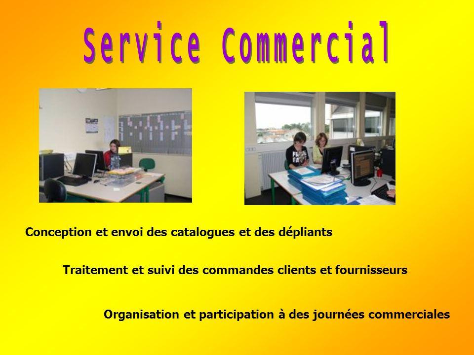 Traitement et suivi des commandes clients et fournisseurs Organisation et participation à des journées commerciales Conception et envoi des catalogues