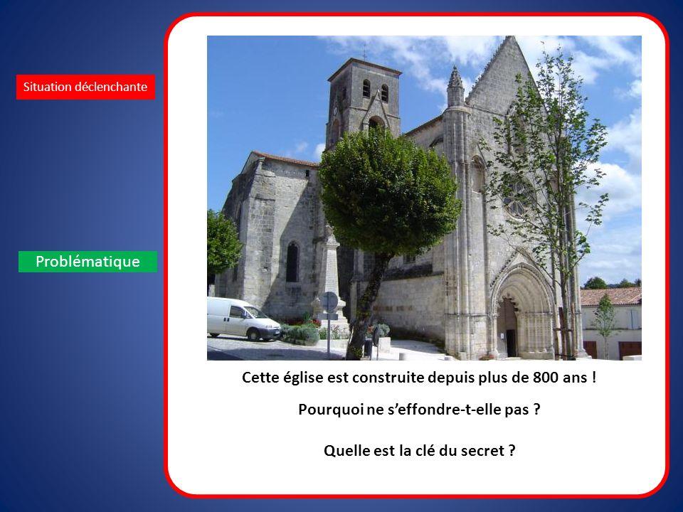 Situation déclenchante Problématique Cette église est construite depuis plus de 800 ans ! Pourquoi ne seffondre-t-elle pas ? Quelle est la clé du secr